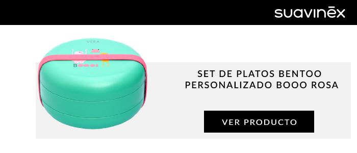 set de platos bentoo personalizado booo rosa