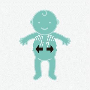 Masaje infantil abdomen el libro