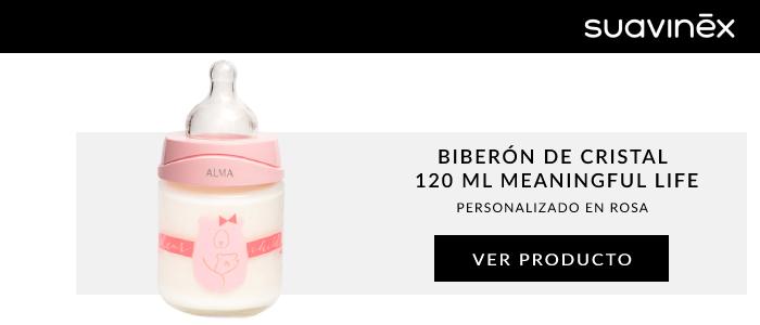 biberon cristal meaningful rosa suavinex
