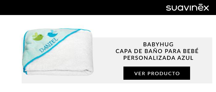 babyHug capa de bano para bebe personalizada azul