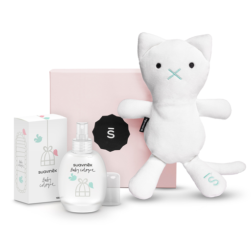 Set Baby Cologne con Sushi, the cat, y caja rosa